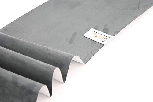 IndividualiseYourCar Mikrofaserstoff selbstklebend dunkelgrau - ähnlich Alcantara, Wildleder Optik, Kunstleder - Stretch Folie Stoff (50cm x 146cm (35,60€/m²), Dunkelgrau)