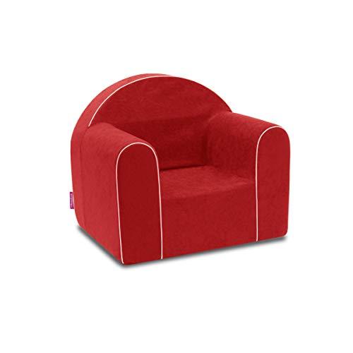 Mini Kindersessel Kinder Babysessel Baby Sessel Sofa Kinderstuhl Stuhl Schaumstoff Umweltfreundlich (Rot)