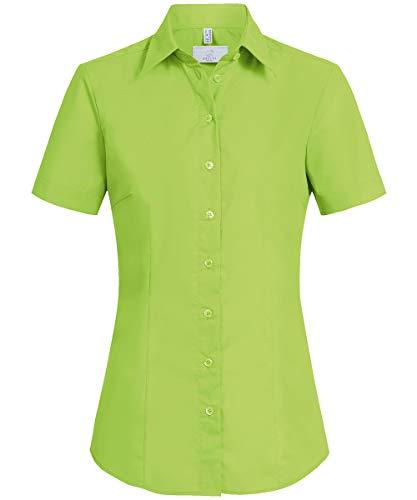 GREIFF Damen-Bluse Basic, Regular Fit, Stretch, Easy-Care, 6516, apfelgrün, Größe 46