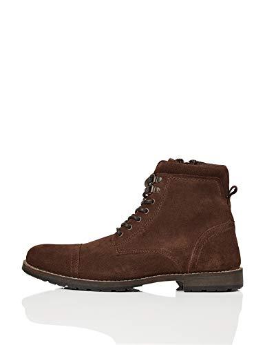 find. Max Herren Zip Worker Biker Boots, Brown (Chocolate), 10 uk