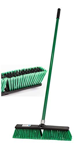 Stiff Outdoor Yard Sweeping Brush Heavy Duty Garden Broom Sweeper Hard Firm Bristles with Strong...