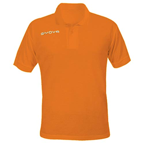 Givova Polo Summer Homme, Orange, XXXL