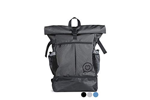 Roo Betty 'Nyx' Roll Top Backpack - Durable Rolltop Daypack - Womens...
