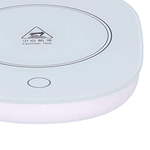 Mokverwarmingskussen, gehard glas + kunststof bekerverwarmer, draag- voor babyflessen Keramische bekers Glazen bekers Roestvrijstalen bekers(pink)