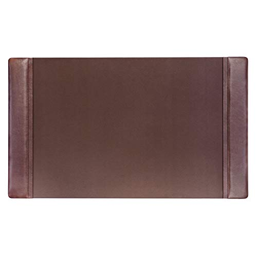 Dacasso Chocolate Brown Leather 34' x 20' Side-Rail Desk Pad