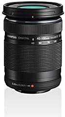 Objetivo Olympus M.Zuiko Digital ED 40 - 150mm F4 - 5.6, teleobjetivo, adecuado para todas las cámaras MFT (modelos Olympus OM-D & PEN, serie G de Panasonic), negro