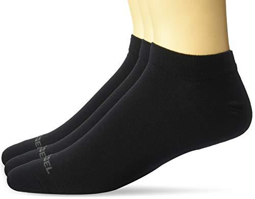 Diesel Socken Unisex, 3er Pack, Sneaker, SKM-GOST, Gr. 35-46, Unifarben: Farbe: Schwarz   Größe: Small (Gr. 35-38)