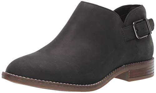 Clarks Women's Camzin Pull Ankle Boot, Black Leather, 6 M US