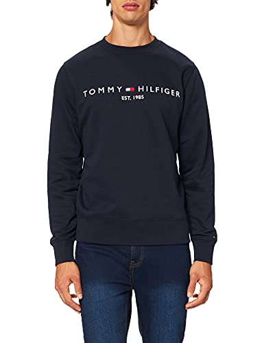 Tommy Hilfiger Tommy Logo Sweatshirt Sudadera, Cielo del Desierto, XS para Hombre