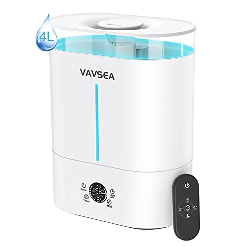 VAVSEA Humidificador ultrasónico 4L Bebé, Difusor de Aroma con alta capacidad de depósito de agua, apagado automático, Eficiente y silencioso, ideal para bebés, yoga y dormitorios