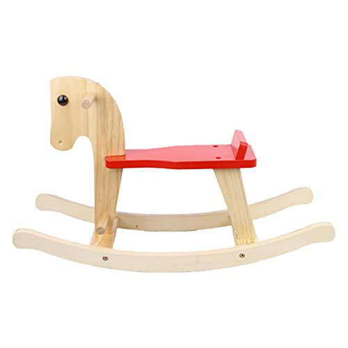 TOYANDONA Horse Rocking Chair Ride on Horse Chair Wooden Animal Resting Chair Rocker Early Educational Toy for Children Toddler