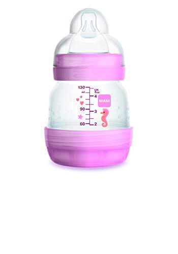 Mam Easy Start Anti-Kolik-Flasche mit Sauger Größe 0, 0+ Monate, 130 ml, Rosa