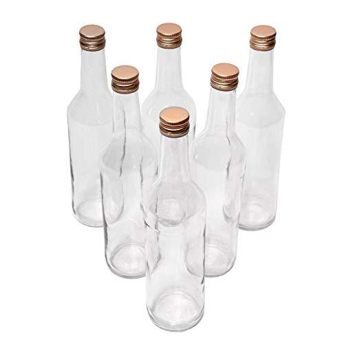 Glasflaschen Set 6 x 200ml mit Schraubverschluss