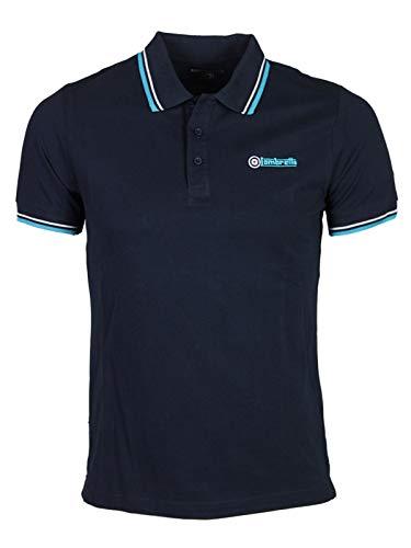 Lambretta Herren Poloshirt * Einheitsgröße Gr. 58, Navy/Wihite/Turquoise
