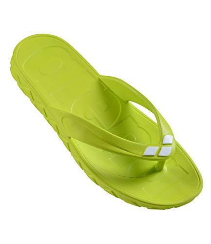 ARENA Herren Badeschuhe Badelatschen Poolsandalen Watergrip Thong 000411, Farbe:Grün, Artikel:-610 Lime soda - White, Schuhgröße:EUR 46