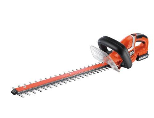 Black & Decker GTC1850L-QW Cortasetos 18V 1.5Ah Litio con longitud espada 50 cm y 18 mm de separación entre dientes, 18 V, Negro, Rojo