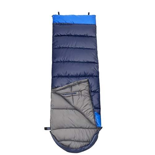 SSG Home Durable et Beau Sac de Couchage Outdoor Voyage Camping Polyester Coton épais Chaud Adulte intérieur Voyage Respirant Splicing Portable étanche Confortable et Portable (Color : A)