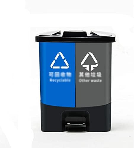 ZSY Caja de clasificación de la Basura de Grandvolumige, Parque Interior Supermercado Contenedores de Reciclaje Basura de Basura Barril de Basura para Uso Profesional en casa (Size : 41 * 31 * 29CM)