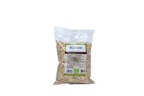 Bionsan Copos de 5 Cereales Ecológicos - 6 Bolsas de 500 gr