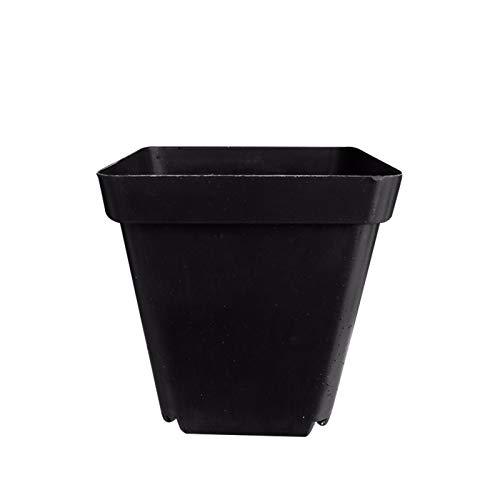 GAGH Juego de 30 macetas cuadradas de plástico para plantas suculentas, para decoración del hogar, oficina, contenedor, 7 x 8 cm