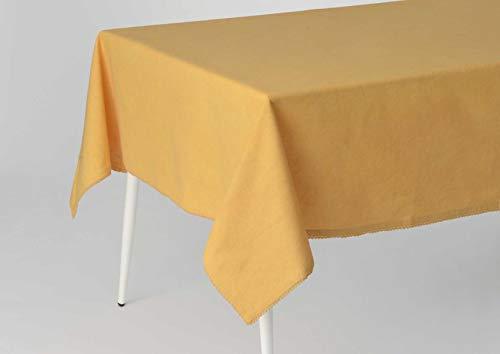 Nappe Capucine moutarde, 150x250 cm, Amadeus