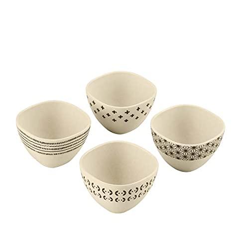Cuisinart CTG-00-4BB Set of 4 4 Pinch Bowls, None, White & Black
