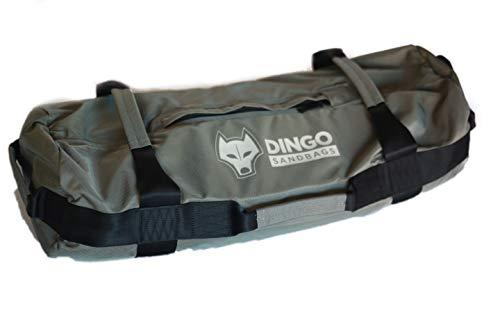 Dingo Sandsäcke für Training Kraft, Fitness, Conditioning, Crossfit, Athletik, Strongman Hochwertig und langlebig, Storm Grey, Med-Large 55-75lbs