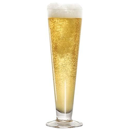 Alta capacidad extra Proyecto de Vidrio alto Flautas restaurante Craft cerveza de trigo jugo de cerveza jarras de cóctel Copa (Capacity : 380ml, Color : Corona Beer Glass)
