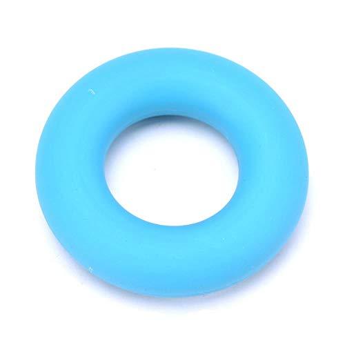 Yener Gummi Handgriff Ring Stärke Muskelkraft Training Exerciser Gym Expander Greifer Stärke Fingerring 7cm Durchmesser c, Blau