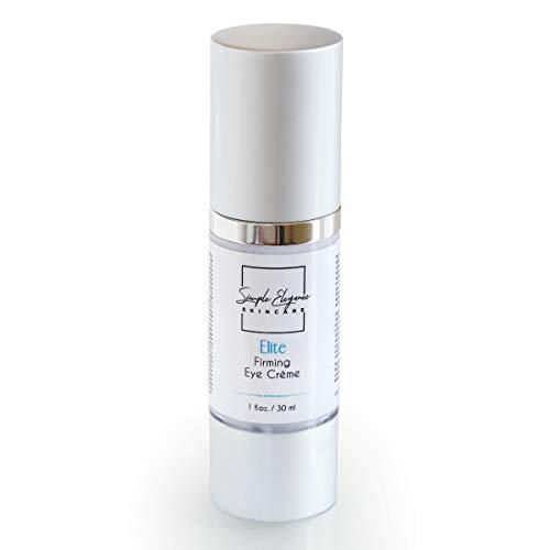 Simple Elegance Skin Care - Elite Firming Eye Cream   Hydrates Eye Area   Crows Feet, Minimize Fine Lines & Wrinkles   Anti-Aging Formula   Peptide Eye Cream with Matrixyl