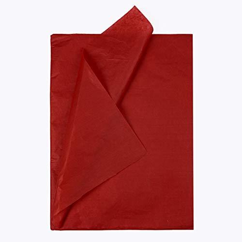 RUSPEPA Geschenkpapier Seidenpapier - Rot Seidenpapier für Heimarbeit Bastelarbeit Geschenkverpackung – 50 x 70 cm – 25 Blatt