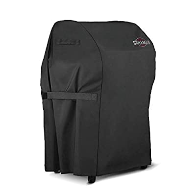 Grillman Premium BBQ Grill Cover, Heavy-Duty Gas Grill Cover for Weber, Brinkmann, Char Broil etc. Rip-Proof, UV & Water-Resistant