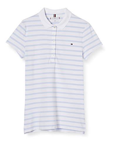 Tommy Hilfiger Short Sleeve Slim Polo Stripe Mujer