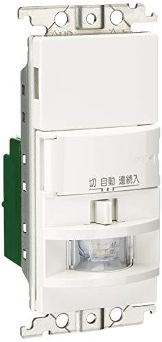 パナソニック(Panasonic) 熱線センサ付自動スイッチ 壁取付 コスモシリーズ ワイド21 2線式・片切 LED専用 (明るさセンサ・手動スイッチ付) ホワイト WTK1511W