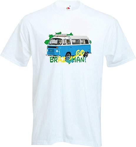 Grappig Vdub Camper Van Bus geïmporteerd Bay Window Braziliaans Campervan T Shirt