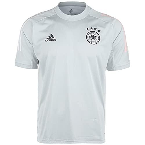 adidas Alemania Temporada 2020/21 Camiseta Entrenamiento, Unisex, Clear Grey, M