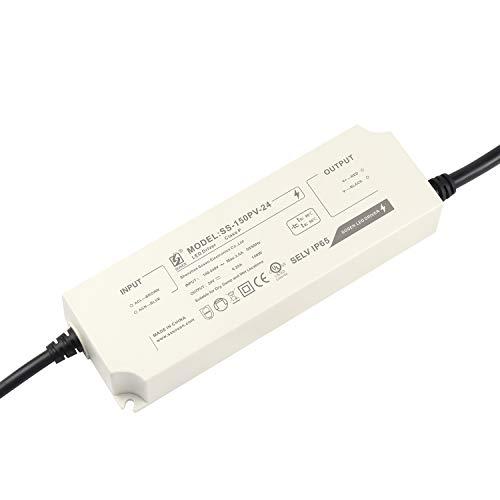 LIGHTEU®, Transformator LED Netzteil Treiber - 150 W, 24 V DC, 6,25 A IP65 - Konstantspannung für LED-Lichtbänder und G4, MR11, MR16 LED Glühlampen