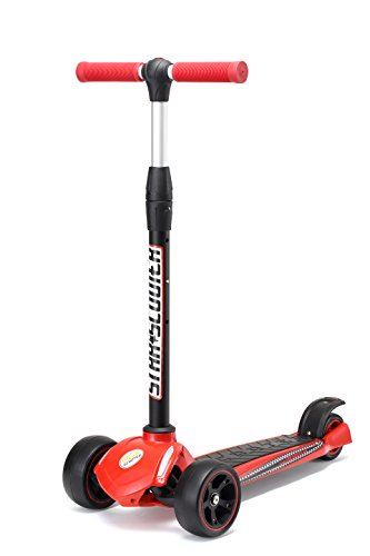 Star-Scooter® Patinete con Ruedas extragruesas y Plegable para niños Desde Aprox. 4-5 años Triple Monster Wheel Edition Rojo & Negro