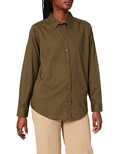 United Colors of Benetton Camicia 5CQY5QC13 Camisa, Verde Militar 35a, XL para Mujer