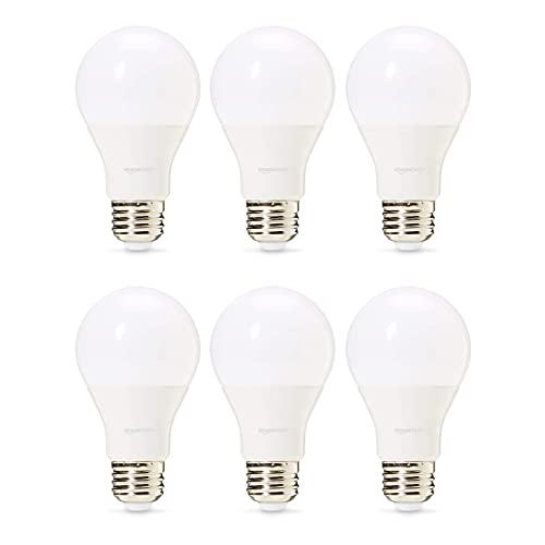 Amazon Basics Professional - LED-Leuchtmittel, Edison-Schraubgewinde (E27), entspricht 60-Watt-Birne, Warmweiß, dimmbar, 6 Stück