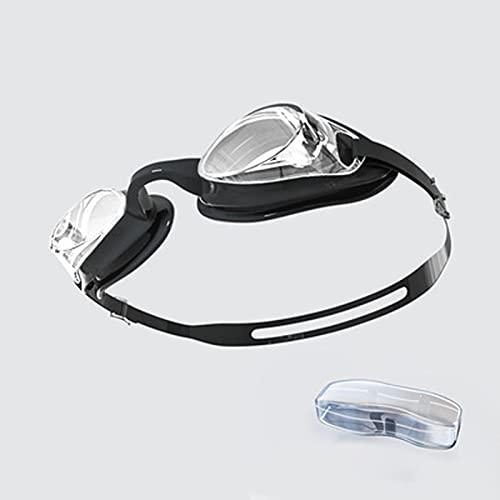 LBHH 1 Pezzo di Anti Fog Occhiali da Nuoto,Professionali Occhialini da Piscina,Anti-Appannamento Anti-perdite UV Visione Chiara Facile da Regolare con PonteNasale Morbido per Uomo Donna Adulti