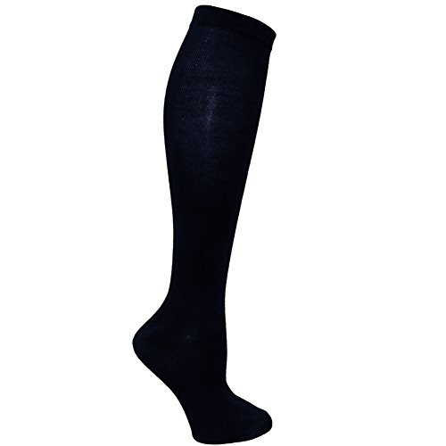 RSG Hosiery Knee High Socks For Teens & Women Solids & Patterns (12-Pack Stripes)