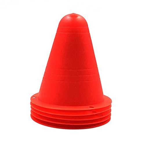 Ziao 10 unidades de marcadores de entrenamiento para fútbol, calle, cono de obstáculos, bloqueo de la carretera