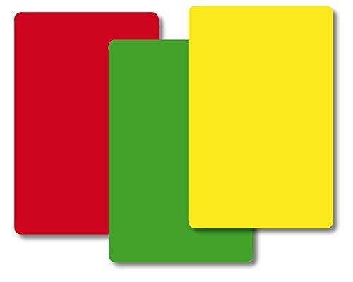 TimeTEX Ampel-Karten - 84 Karten - jeweils 28 Kärtchen Rot - Gelb - Grün - Format: 59 x 91 mm - 10832