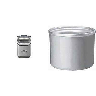 Cuisinart ICE-70 Electronic Ice Cream Maker, Brushed Chrome & Cuisinart ICE-30RFB 2-Quart Freezer Bowl