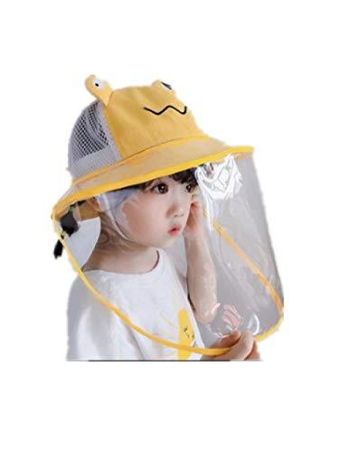AQ1 Gorro Bebe protección Sol Desmontable para Salir, Proteger la Cara, Gorro Protector-6 Meses-4 años_ Rana Amarilla