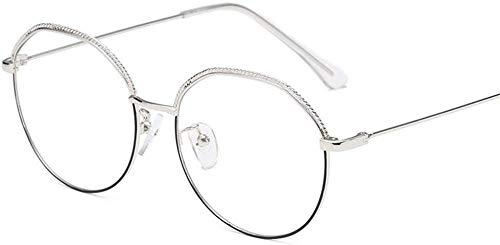 Unisex superlicht gepolariseerde zonnebril, oude manier weer herstelt ronde metalen doos samengesteld tegen het blauwe glazen frame mannen en vrouwen Lue Shading glazen, anti-glans vermoeidheid, koop