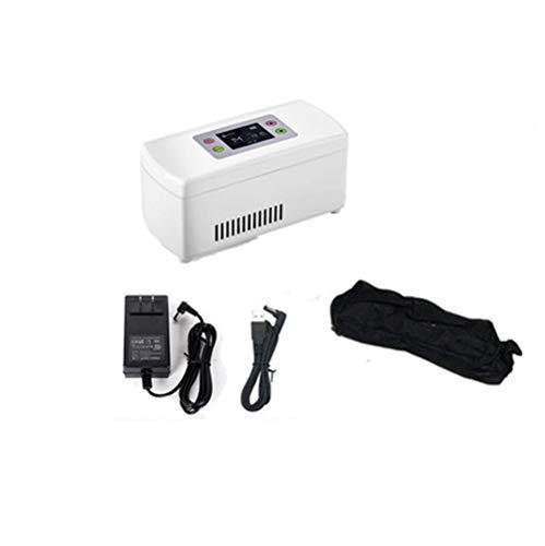 Qinmo Ideal for el dormitorio y el espacio de oficina pequeña portátil de color blanco Mini nevera con enfriamiento y calentamiento función |AC 220V / DC 12V