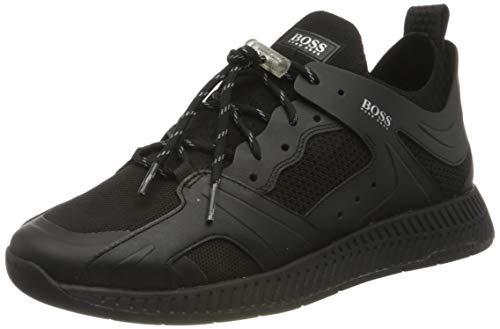 BOSS Titanium_Runn_TR, Basket Homme, Noir 1, 43 EU