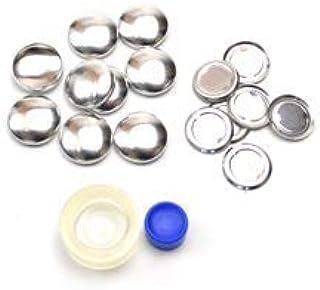 くるみボタンキット 包み つつみ パーツ (打ち具付) 18mm 9組入 (足なしタイプ) 3パッケージセット
